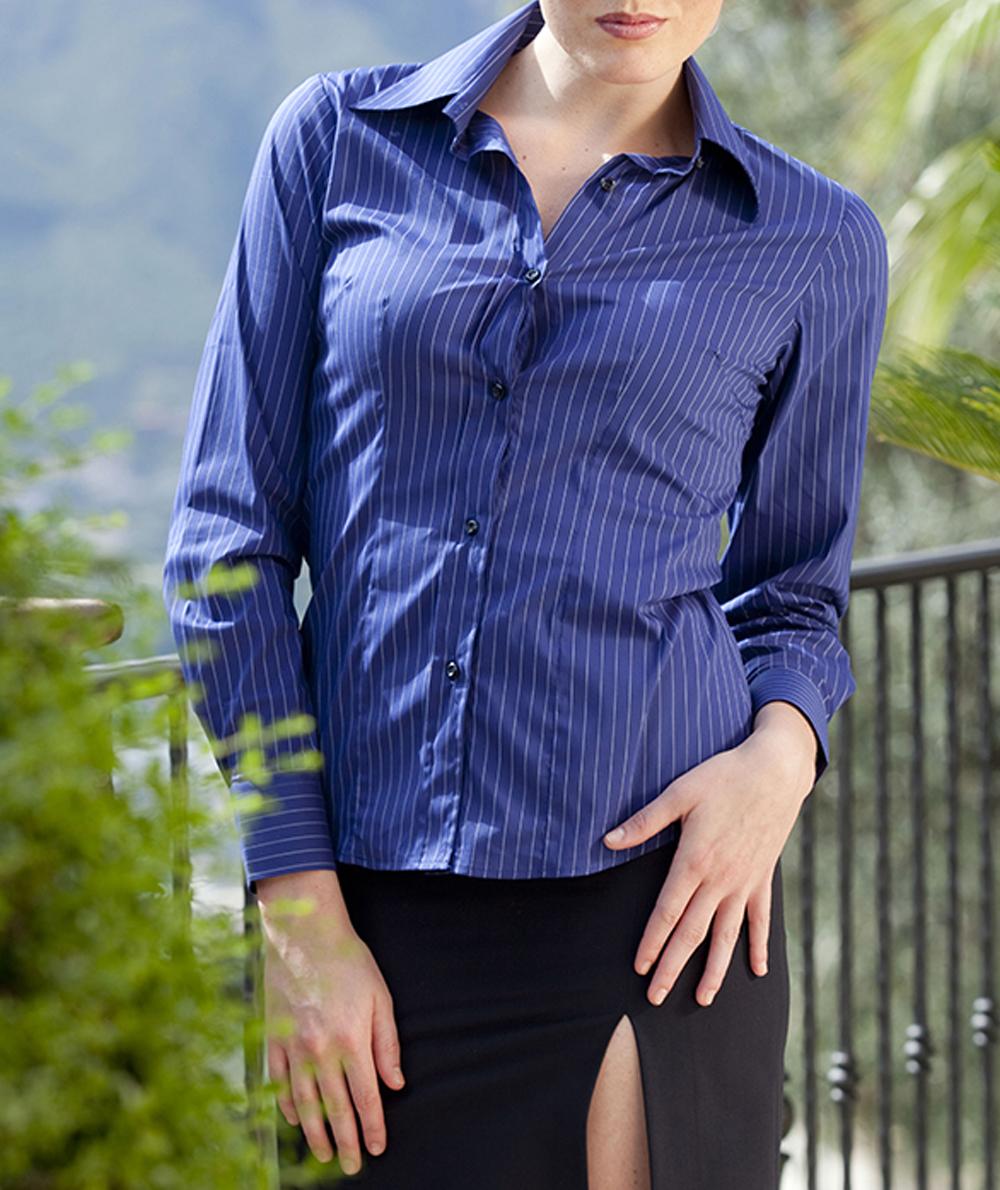 6e4712b7ff L325 Camicia gessata manica lunga donna