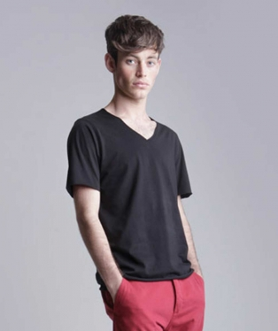 SKSF223 MEN'S FASHION V NECK T