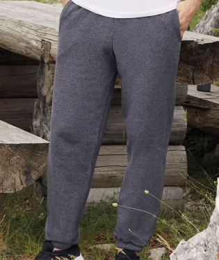 PANTALONE UOMO FELPATO FRUIT OF THE LOOM CON ELASTICO ALLA CAVIGLIA TUTA FITNESS